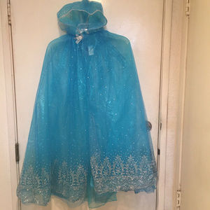 Other - Child's Blue Glitter Hooded Costume Cape Frozen